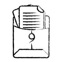 figuur bestandsmap met bedrijfsdocumentinformatie