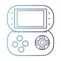 lijn videogame console elektronische technologie vector