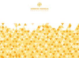 De abstracte gele geometrische achtergrond en de textuur van de driehoeksstructuur met exemplaarruimte.