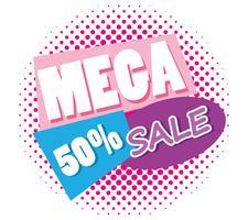 Mega verkoop kortingen poster memphis stijl vector