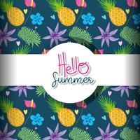 Hallo zomer achtergrond vector