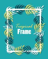 Tropisch vierkant kader