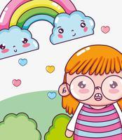 Mooi meisje tekenfilms vector