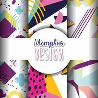 Memphis-sjablonen en achtergronden