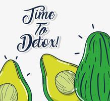 Detox en vers fruit vector