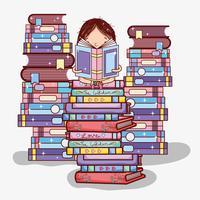 Leuk meisje met boeken
