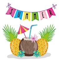 Hou van zomerse cartoons vector