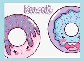 Leuke Kawaii Cartoons vector