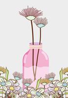 Boeket bloemen in vaas metselaar pot
