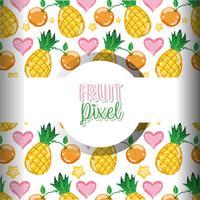 Fruit pixel achtergrond