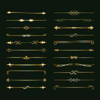 Verzameling van vector scheidingslijnen. Kan worden gebruikt voor ontwerp, brieven, sieraden, geschenken, notebooks