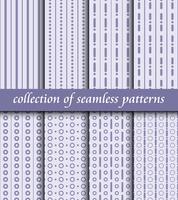 Set van art deco naadloze patronen. Stijlvolle moderne structuren. abstracte achtergronden