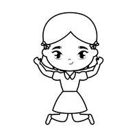 schattige kleine student meisje avatar karakter