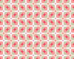 Abstract naadloos patroon van kleurrijke geometrische ronde vorm op witte achtergrond - Vectorillustratie