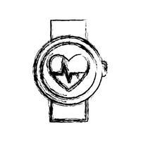 smartwatch pictogramafbeelding vector