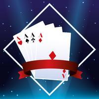 Casino kaarten embleem