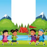 kinderen op schoolreisje