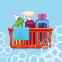 huishouden schoonmaak cartoon vector