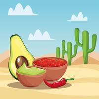 Mexicaans eten tekenfilms