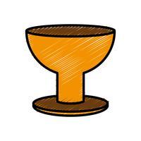 trofee cup pictogram vector