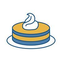 zoete cake pictogram vector