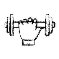 hand met halters pictogram vector