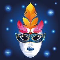 Mardi gras-masker