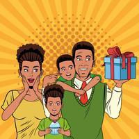 Vaders dag popart tekenfilms
