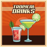 tropische cocktail poster