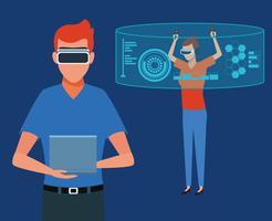 Virtual reality-technologie vector