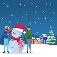 gelukkige kerst in de winter