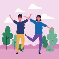 dansend paar avatar