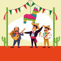 Mexicanen cinco de mayo cartoon vector