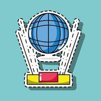 wereldwijde verbindingstechnologie patch sticker