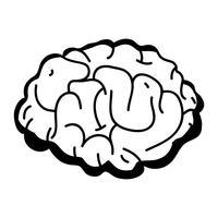 contour menselijk brein anatomie tot creatief en intellect vector