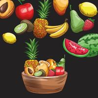 hand getrokken fruit