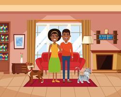 Familie binnen de tekenfilms van het huislandschap