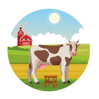 Farm landelijke dieren tekenfilms