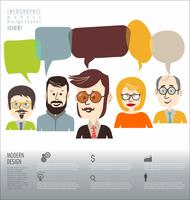 Infographic brainstormen bedrijfsconcept modern ontwerp