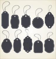 Papieren prijskaartje retro collectie