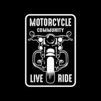Motorembleem en logo, goed voor afdrukken vector