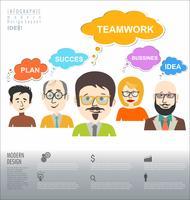 bedrijfsconcept modern ontwerp infographic