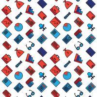 Bedrijfspictogrammen naadloos patroon vector