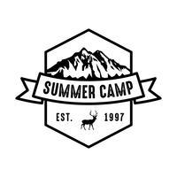 Adventure-logo en badge, goed voor afdrukken