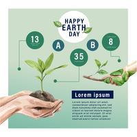 Opwarming van de aarde en vervuiling, red de wereld, Infographic gegevens statistiek aanwezig, creatief aquarel vector illustratie sjabloonontwerp