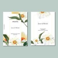 Lente uitnodigingskaart met bloemen esdoorn en bladeren. botanische versheid, Bedankt kaart, moederdag bloem aquarel vector illustratie ontwerp