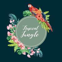 Het kader verse bloemen van de de lentekroon, decorkaart met bloemen kleurrijke tuin, huwelijk, uitnodiging, ontwerp van de waterverf het vectorillustratie