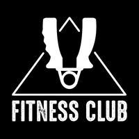 Fitnessbadge en logo, goed voor printontwerp