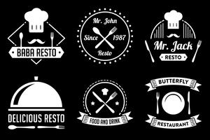 Restaurantbadge en logo, goed voor afdrukken