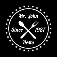 Restaurantbadge en logo, goed voor afdrukken vector